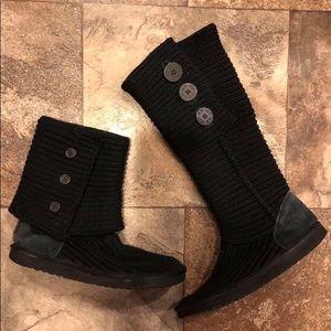 UGG black boots size 8